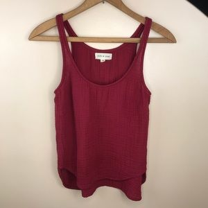Cloth and Stone Red Tank Top Waffle knit XS